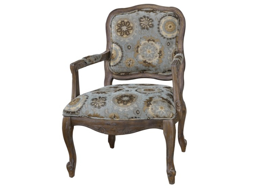 Crestview Living Room Hillcrest Rustic Frame And Pattern Chair Cvfzr897 Nehligs Furniture