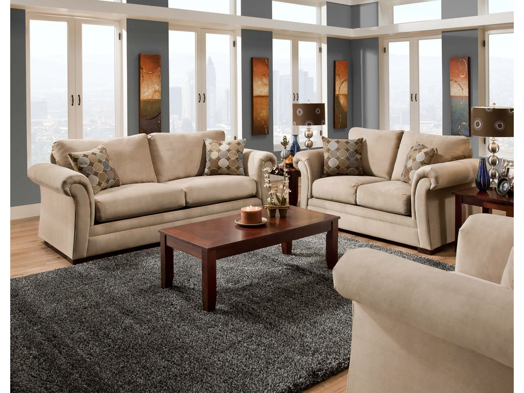 American Furniture Manufacturing Living Room Sofa 1003 6801 Butterworths Of