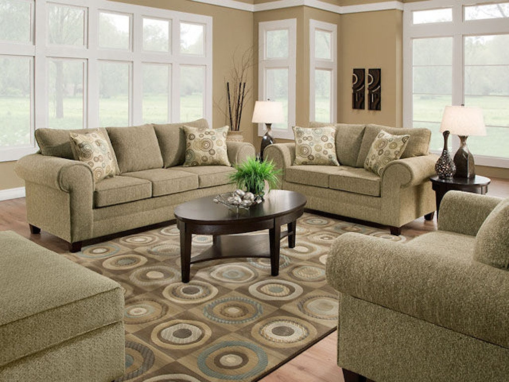 Sage Living Room American Furniture Manufacturing Living Room Sofa 3753 4728