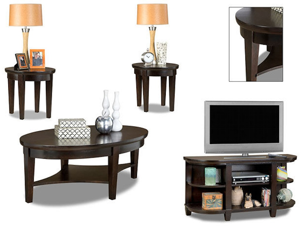 American Furniture Manufacturing Living Room 3 Pack Table Set 395t Butterworths Of Petersburg