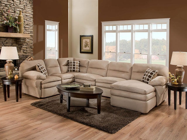American Furniture Manufacturing Living Room 3 Piece Sectional