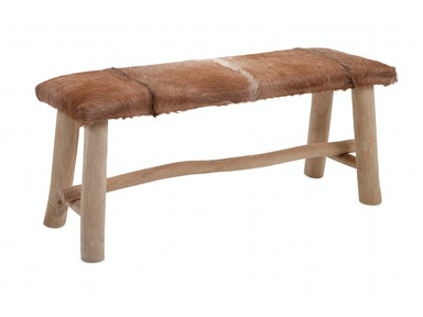 IMAX Corporation Andros Animal Hide Bench 10253