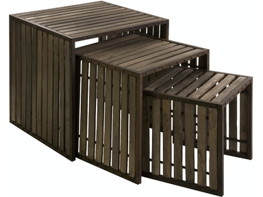 IMAX Corporation Living Room Vermont Iron And Wood Nesting Tables - Set Of 3