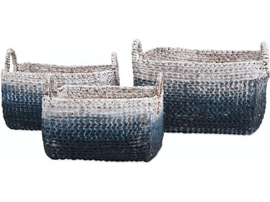 IMAX Corporation Accessories Cascade Woven Water Hyacinth Basket - Set Of 3