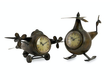 IMAX Corporation Accessories Lindbergh Aviation Clocks - Set Of 2
