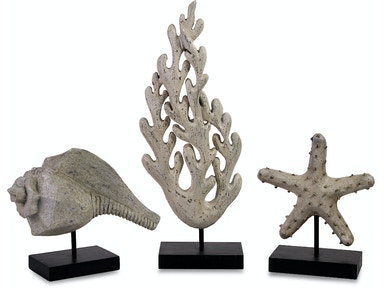 IMAX Corporation Accessories Seaside Series Statuary - Set Of 3