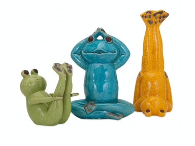 IMAX Corporation Accessories Yoga Frog Statuaries - Set Of 3