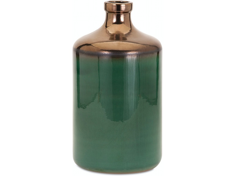 Imax Corporation Accessories Melenia Large Green And Bronze Vase