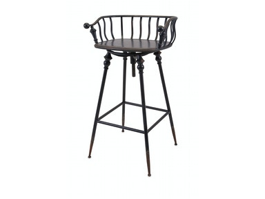IMAX Corporation Crestly Metal Bar Chair