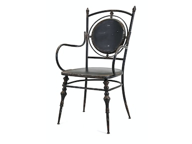 IMAX Corporation Beric Metal Arm Chair 19228