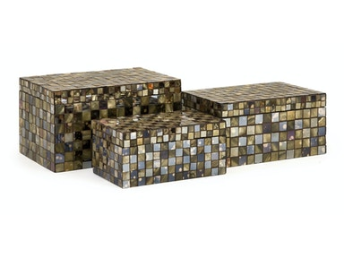 IMAX Corporation Accessories Noida Mosaic Boxes - Set Of 3