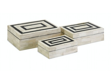 IMAX Corporation Accessories Bella Bone Inlay Boxes - Set of 3