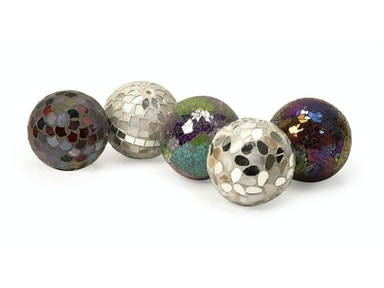 IMAX Corporation Accessories Abbot Mosaic Deco Balls - Set of 5