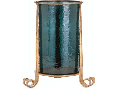 IMAX Corporation Accessories Azure Large Candle Hurricane
