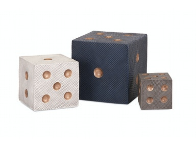 IMAX Corporation Accessories Beth Kushnick Decorative Dice - Set of 3
