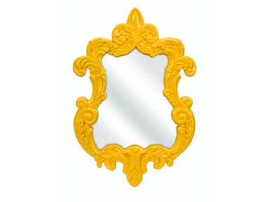 IMAX Corporation Accessories Finely Yellow Baroque Wall Mirror