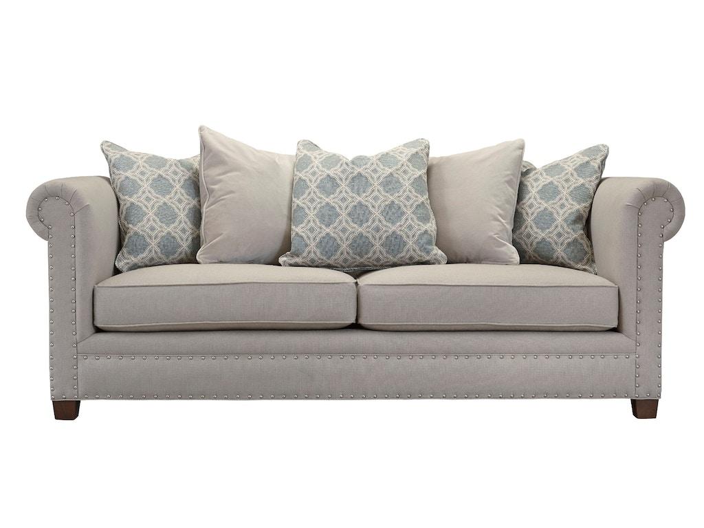 Southern Furniture Living Room Sadie Sofa Nails 23461 Seville Home Leawood Kansas City