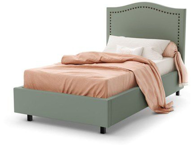 Amisco Youth Bedroom Elegance Upholstered Bed Twin 12507 39 Twin