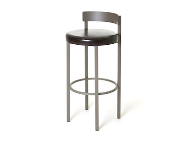 Amisco Bar and Game Room Zoe Non Swivel Bar Height Stool