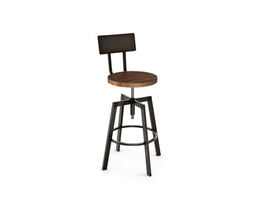 Amisco Bar and Game Room Architect Screw Stool