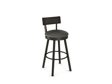 Amisco Bar and Game Room Lauren Swivel Bar Height Stool