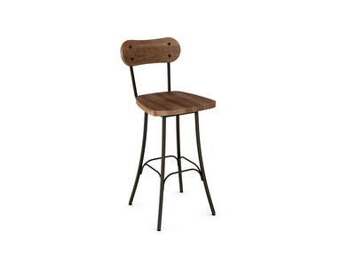 Amisco Bar and Game Room Bean Swivel Stool