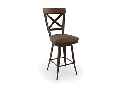 Amisco Bar and Game Room Kyle Swivel Bar Height Stool