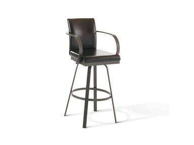 Amisco Bar and Game Room Lance Swivel Bar Height Stool