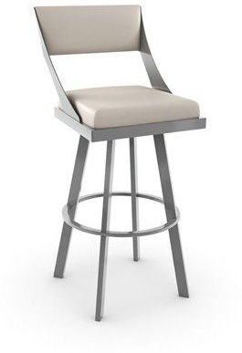 Amisco Bar And Game Room Fame Swivel Bar Height Stool