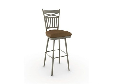 Amisco Bar and Game Room Garden Swivel Bar Height Stool