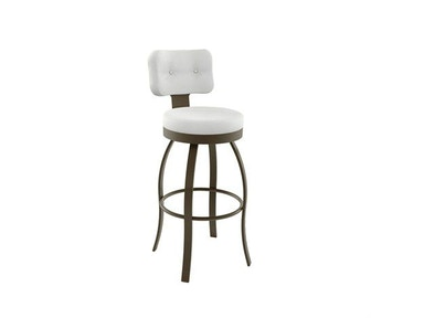 Amisco Bar and Game Room Swan Swivel Bar Height Stool