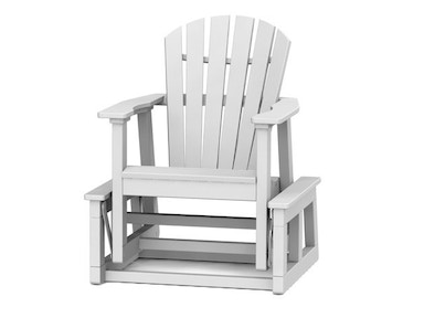 Seaside Casual Adirondack Shellback Single Glider 116