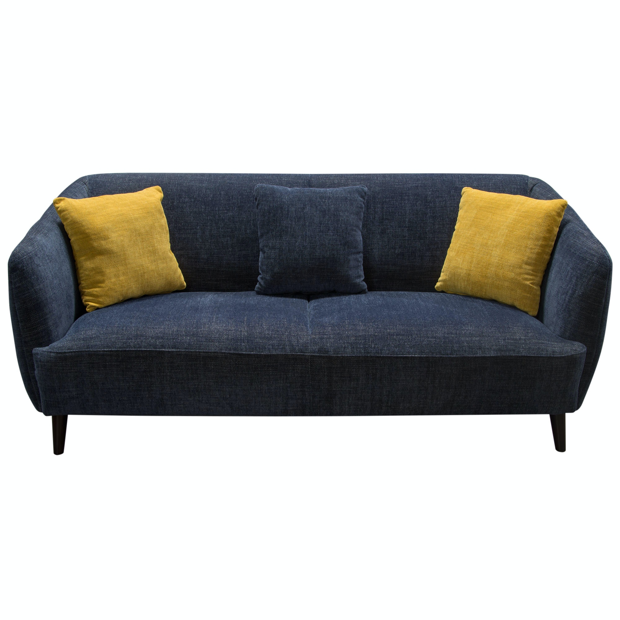 Diamond Sofa DeLuca Midnight Blue Fabric Sofa DELUCASOBU