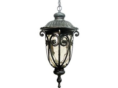 Gold Stone Hanging Incandescent Exterior Light