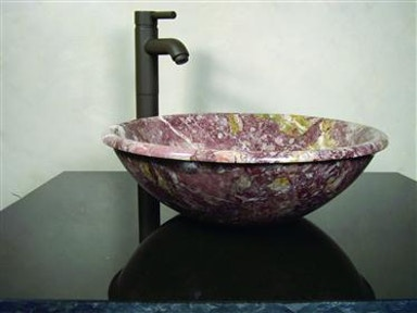 Lip Rose Multicolor Marble Sink