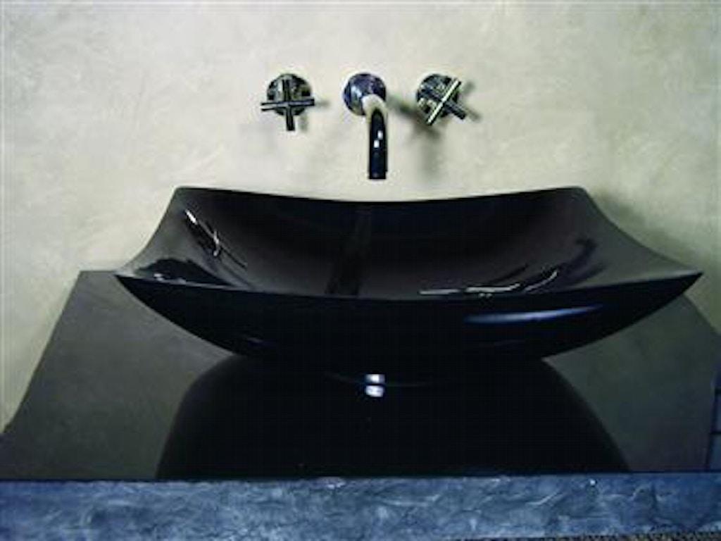 Yosemite Home Decor Accessories Black Granite Vessel Sink