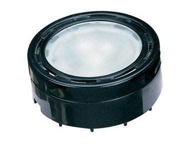 "2 5/8"" Black Puck Light"