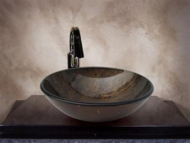Copper Round Glass Basin