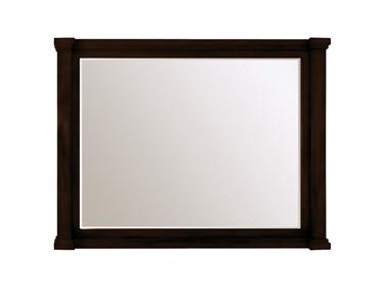 "Vanity Mirror 32"" Brown"