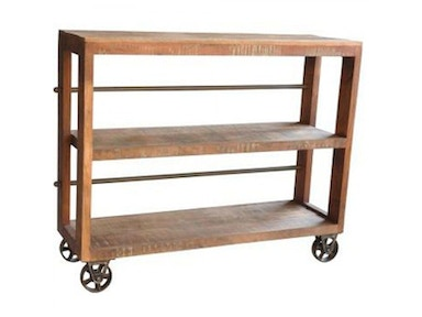 Small Bookcase with Wheels