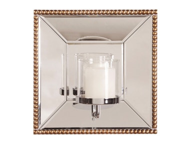Howard Elliott Lydia Mirror With Candle Holder 9.9075