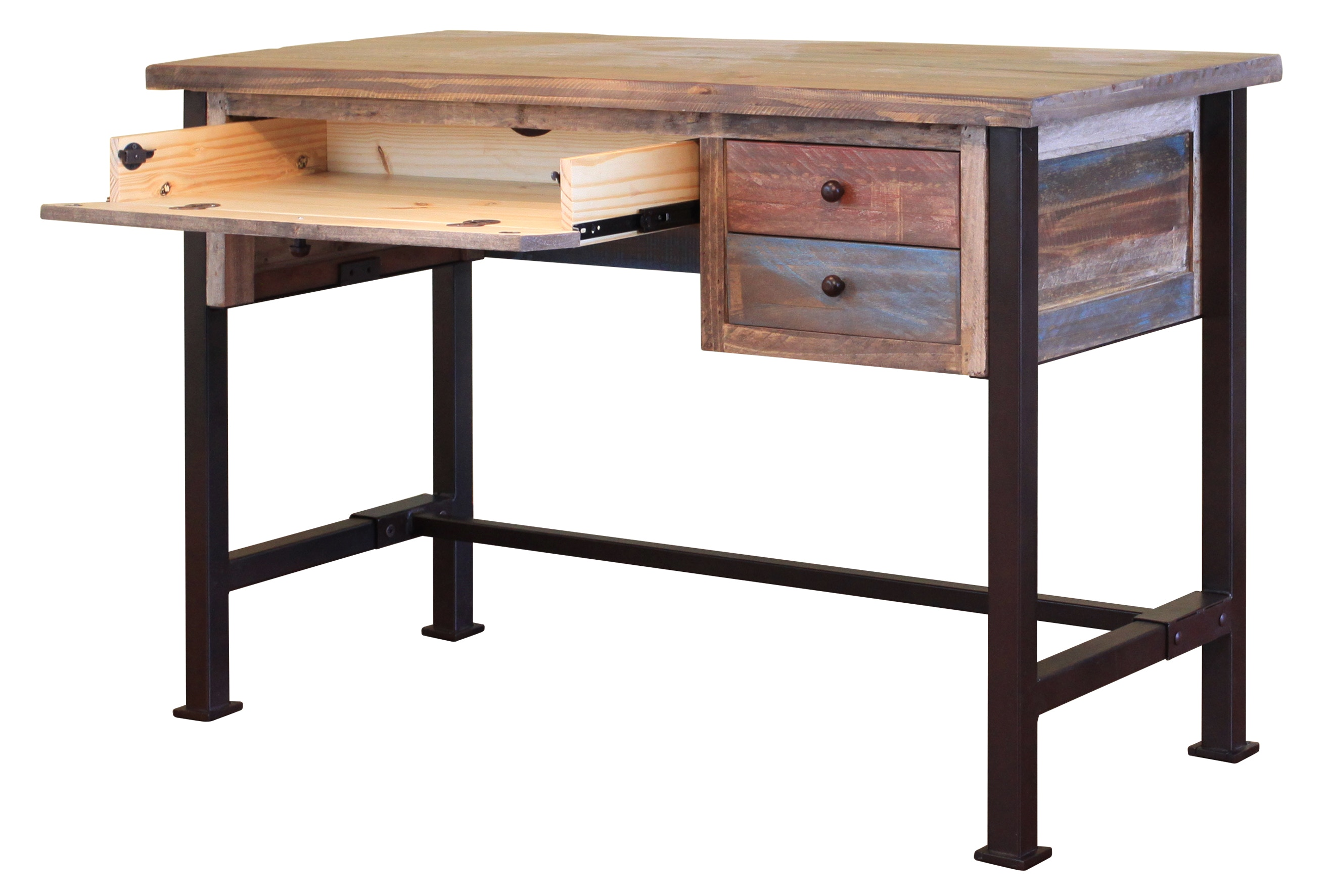 Ordinaire International Furniture Direct Home Office Writing Desk, Reclaimed Wood  Finish (KD)