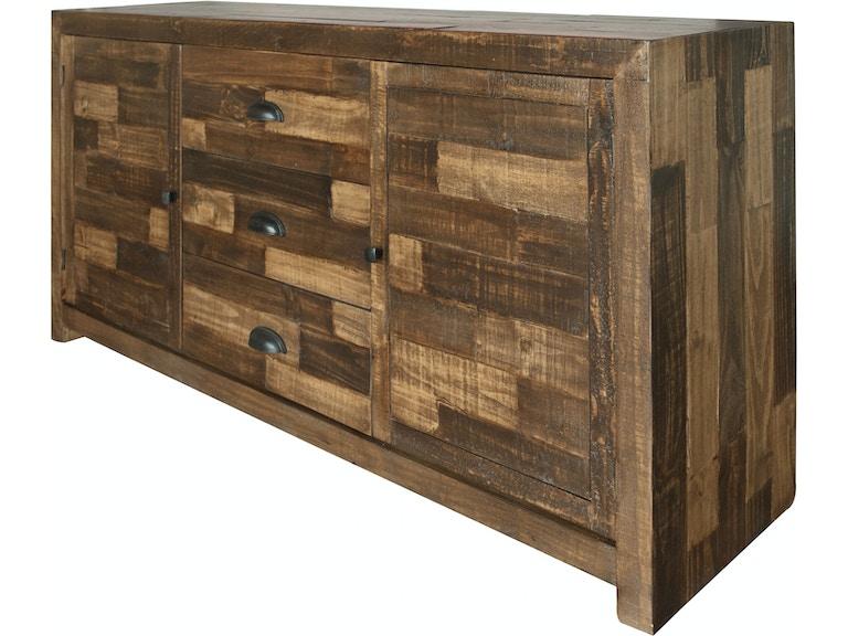 International Furniture Direct Dining Room 3 Drawer 2 Doors Buffet IFD3030BUFFET