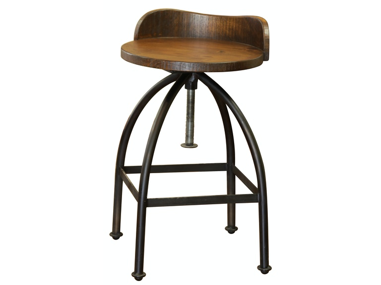 Artisan Home 24-30 Inches Adjustable Height Swivel Stool IFD359BS2430