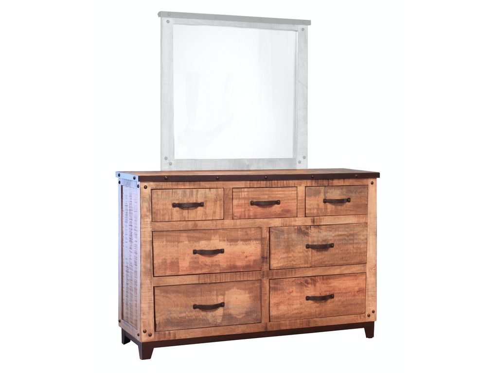 International Furniture Direct Bedroom 7 Drawer Dresser