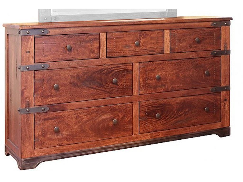 International Furniture Direct Bedroom 7 Drawer Dresser