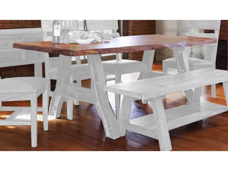 International Furniture Direct Dining Table Top 100 Percent SOLID WOOD IFD866TABLE T