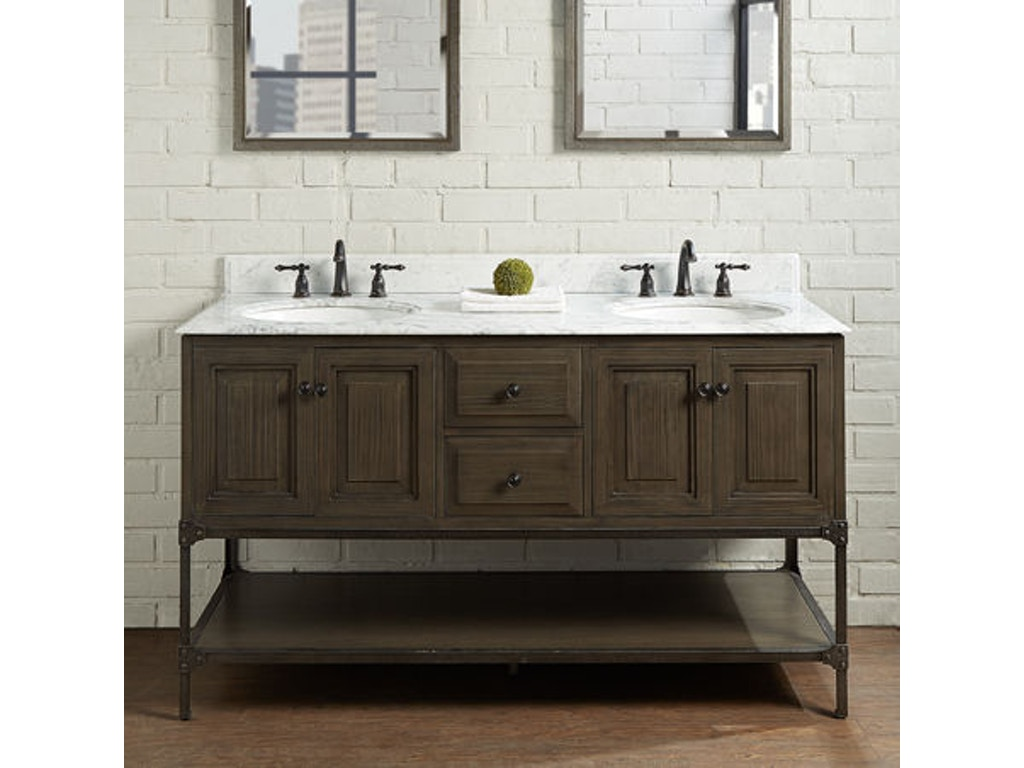 Fairmont Designs Bathroom 60 Inches Double Bowl Vanity 1401 6021d American Factory Direct
