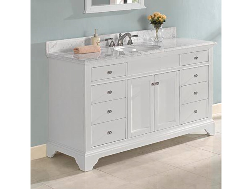 Fairmont designs bathroom 60 inches single bowl vanity 1502 v60 simply discount furniture - Simply design a bathroom vanity with five steps ...