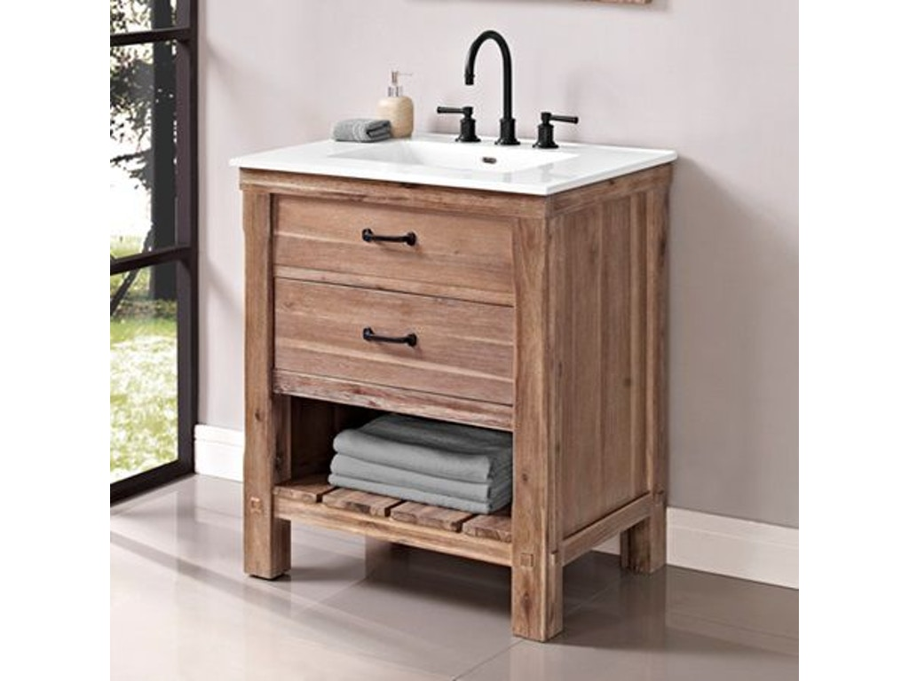 Fairmont Designs Bathroom 30 Inches Open Shelf Vanity 1507 Vh30 Factory Direct Furniture